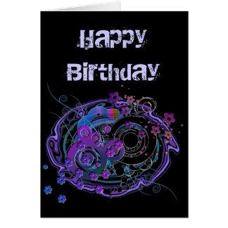 Girlie Swirly Customizable Greeting Card