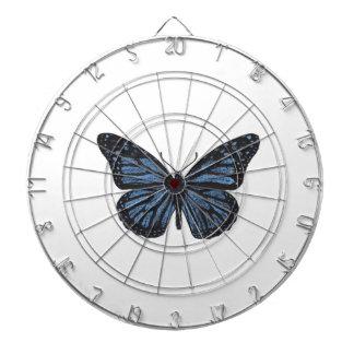 Girlie Vintage Monarch Butterfly Blue Dartboard