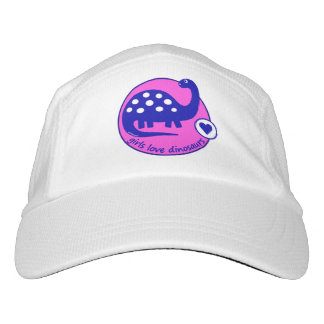 GIRLMPOWER CUTE BRIGHT PINK GIRLS DINOSAUR HAT