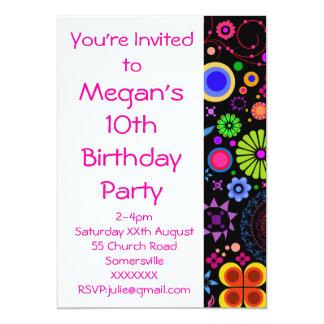 Girls 10th Birthday Party Invite 13cm X 18cm Invitation Card
