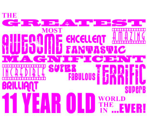 Girls 11th Birthdays Pink Greatest 11 Year Old Standard Apron