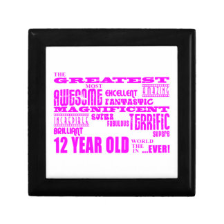 Girls 12th Birthdays : Pink Greatest 12 Year Old Gift Box