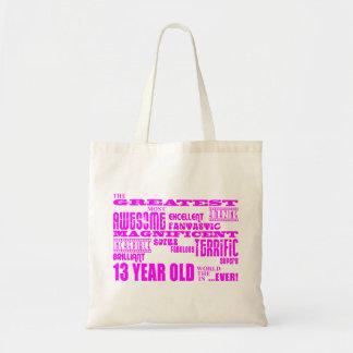 Girls 13th Birthdays : Pink Greatest 13 Year Old Bag