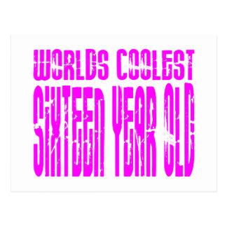 Girls 16 Birthdays Worlds Coolest Sixteen Year Old Postcard