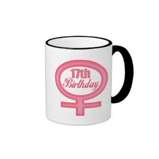 Girls 17th Birthday Gifts Ringer Mug