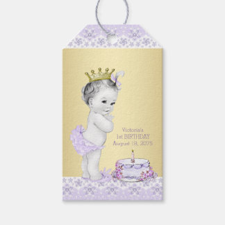 Girls 1st Birthday Party Favor Thank You Tags