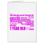 Girls 1st Birthday : Pink Greatest 1 Year Old
