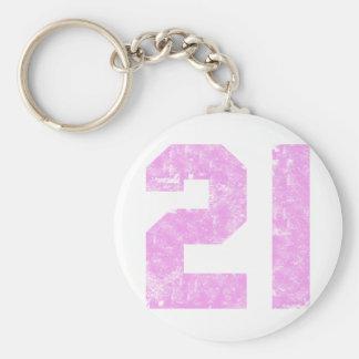Girls 21st Birthday Gifts Basic Round Button Key Ring