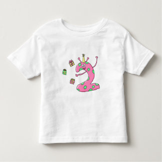 Girls 2nd Birthday Cartoon in Pink. Tee Shirts