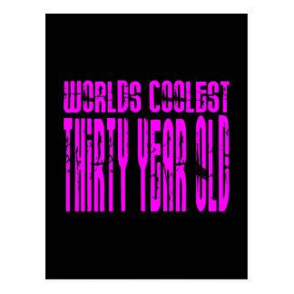 Girls 30th Birthdays Pink Worlds Coolest Thirty Postcard