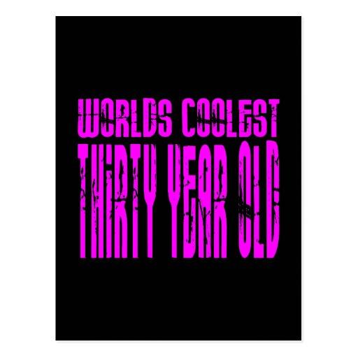 Girls 30th Birthdays Pink Worlds Coolest Thirty Post Cards