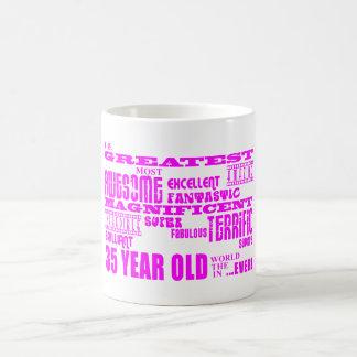 Girls 35th Birthdays Pink Greatest Thirty Five Coffee Mug