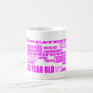 Girls 35th Birthdays Pink Greatest Thirty Five Coffee Mugs