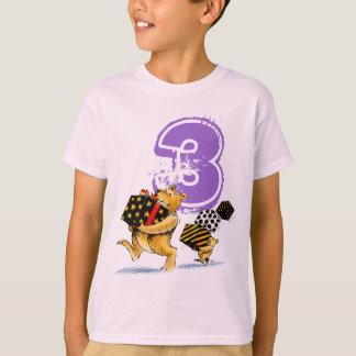 Girl's 3rd Birthday Cute Funny Bears T-Shirt