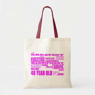 Girls 40th Birthdays Pink : Greatest Forty