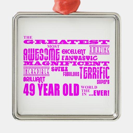 Girls 49th Birthdays Pink Greatest Forty Nine Christmas Tree Ornament
