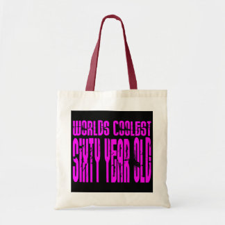 Girls 60 Birthdays Worlds Coolest Sixty Year Old Canvas Bags