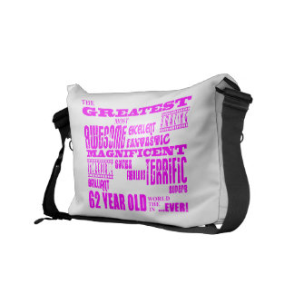 Girls 62nd Birthdays Pink Greatest Sixty Two Courier Bags