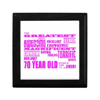 Girls 70th Birthdays Pink : Greatest Seventy Trinket Boxes