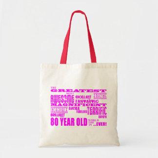 Girls 80th Birthdays Pink : Greatest Eighty