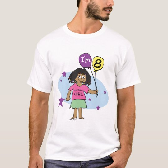 Girls 8th Birthday T-shirt