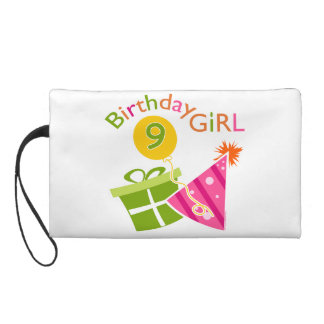 Girls 9th Birthday Wristlet Clutches