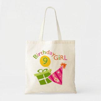 Girls 9th Birthday Canvas Bags