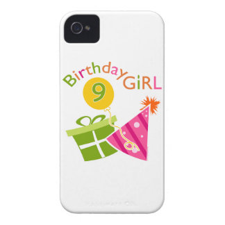 Girls 9th Birthday iPhone 4 Cases