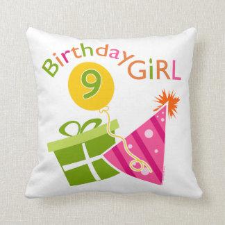 Girls 9th Birthday Pillows