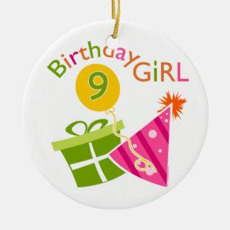 Girls 9th Birthday Ornament