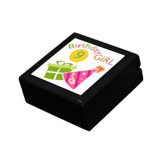 Girls 9th Birthday Trinket Boxes