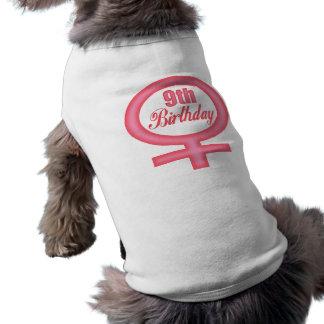 Girls 9th Birthday Gifts Sleeveless Dog Shirt
