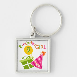 Girls 9th Birthday Key Chain