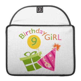 Girls 9th Birthday Sleeve For MacBook Pro