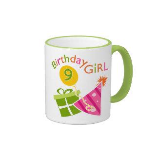 Girls 9th Birthday Coffee Mugs