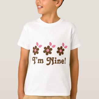 Girls 9th Birthday Party T-shirt