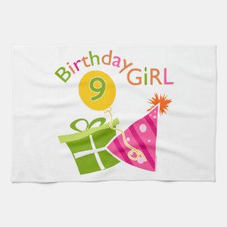 Girls 9th Birthday Kitchen Towel