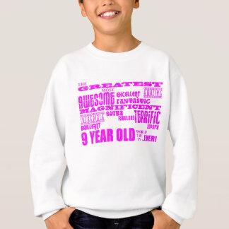 Girls 9th Birthdays : Pink Greatest 9 Year Old Sweatshirt