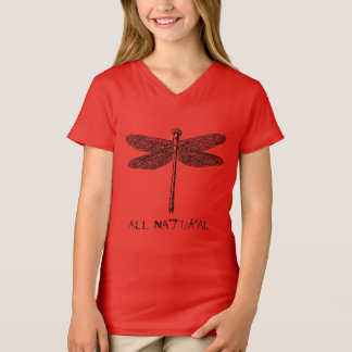 Girls All Natural Dragon Fly T-Shirt