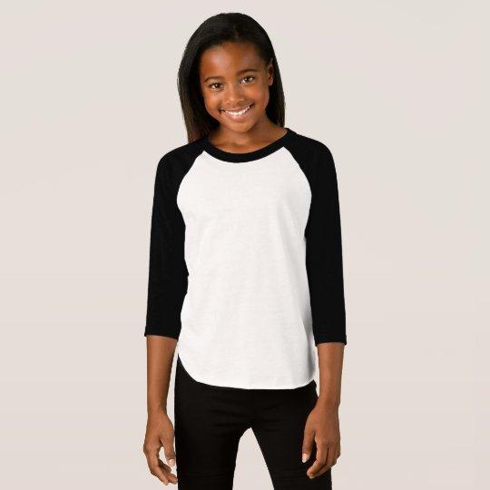 American Apparel 3/4 Sleeve Raglan T-Shirt, White/Black