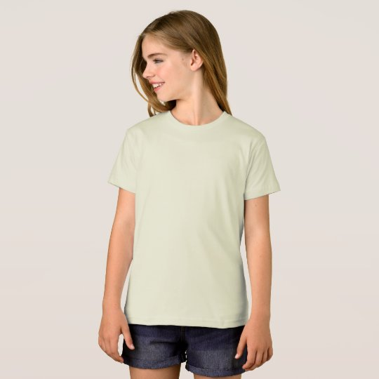 Girls' American Apparel Organic T-Shirt, Natural