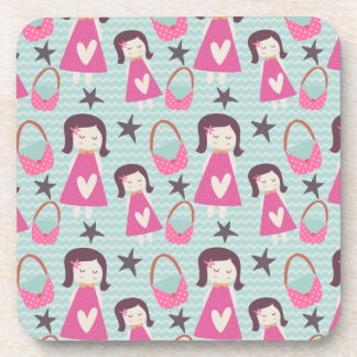 Girls and Handbags Beverage Coasters