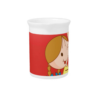 Girls and heart beverage pitcher