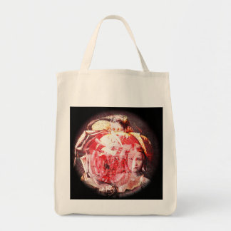 Girls and Roses Digital Collage A E Ivey Tote Bag
