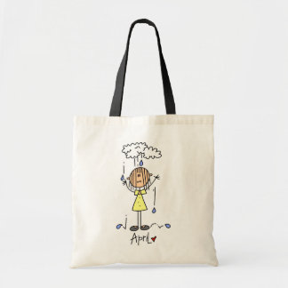 Girl's April Birthday Canvas Bags