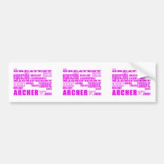 Girls Archers : Pink Greatest Archer Bumper Sticker