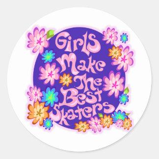 Girls are the Best Skaters! Round Sticker