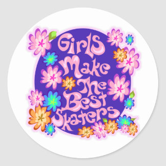 Girls are the Best Skaters Sticker