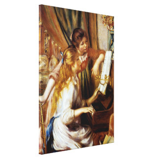 Girls at the Piano Gallery Wrap Canvas