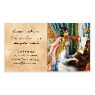 Girls at the Piano Pierre Auguste Renoir painting Business Card Templates